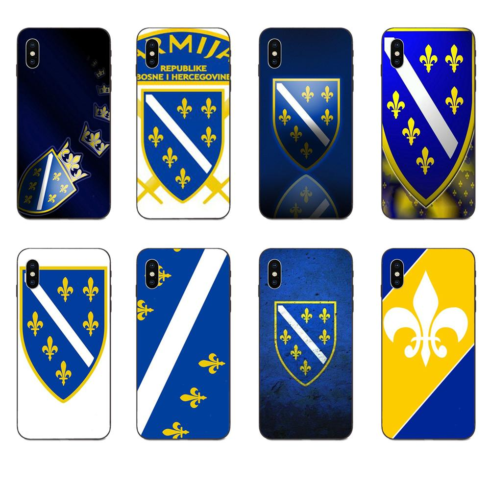 Para Apple iPhone 4 4S 5 5S SE 6 6S 7 8 11 Plus X XS X Max XR Pro Max suave cubierta de la caja de Bosnia y bandera de Herzegovina