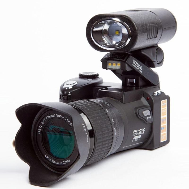 POLO D7200 cámara de vídeo Digital cámaras de 33MP cámara profesional Digital 24X cámara de Zoom óptico más faros LED 5MP CMOS