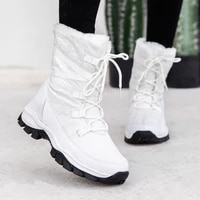2021 womens shoes new high top plus cotton plus size snow boots outdoor shoes white warm and cold hiking boots