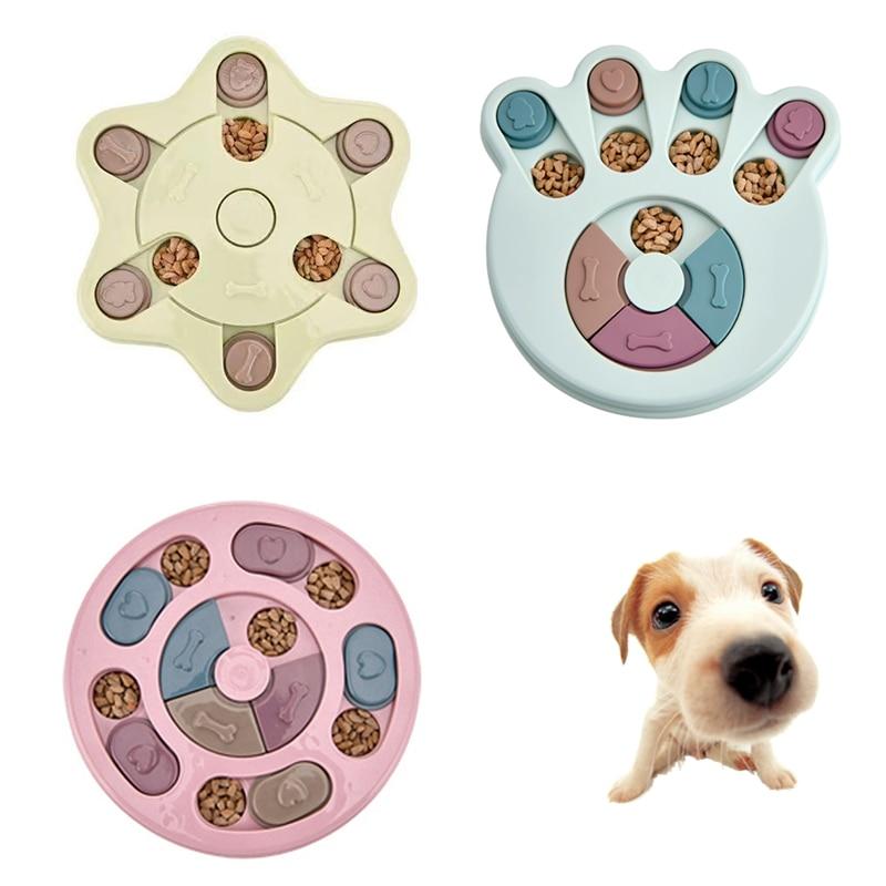 Игрушки-головоломки для собак увеличение IQ, Интерактивная медленно дозирующая кормление, обучающие игры для собак, кормушка для маленьких ...