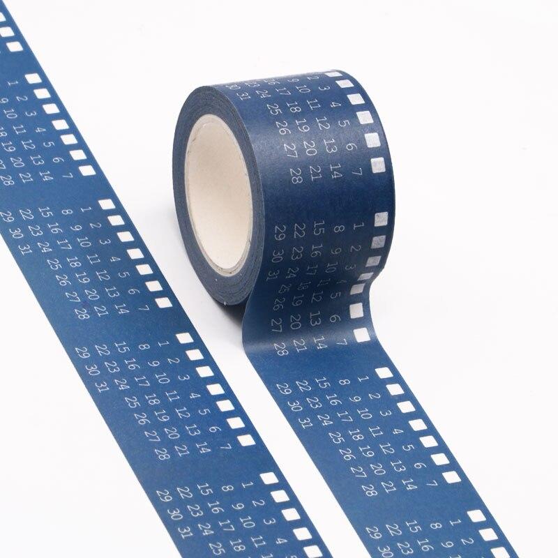 1 шт. 30 мм * 10 м дизайн календаря васи лента широкая Клейкая Лента Скрапбукинг альбом DIY декоративная бумажная лента