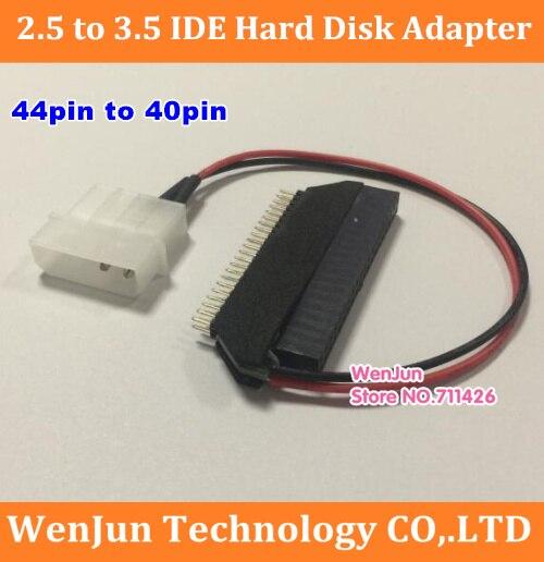 Adaptador de disco duro IDE 2,5 a 3,5 de alta calidad 44pin a 40pin HDD tarjeta convertidora para escritorio