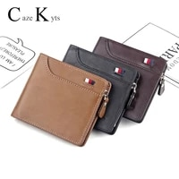 new mens short wallet retro casual cross card bag multi function wallet zipper bag leather purse