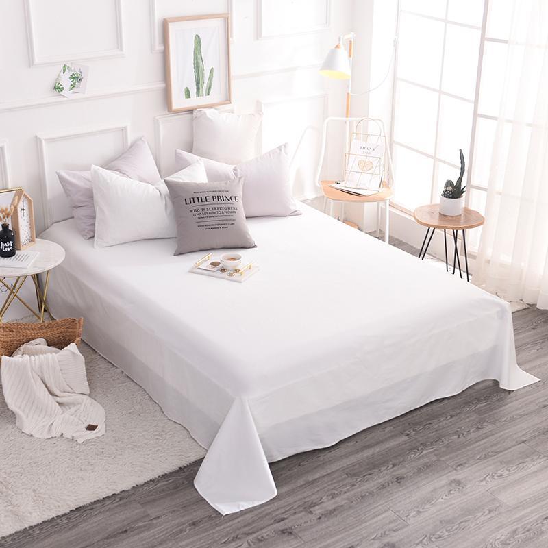 عالية الجودة 100% القطن الفنادق الحديثة نمط الفراش نقية الأبيض الساتان 3 قطعة غطاء سرير المخدة المنسوجات المنزلية 5 حجم سوبر لينة