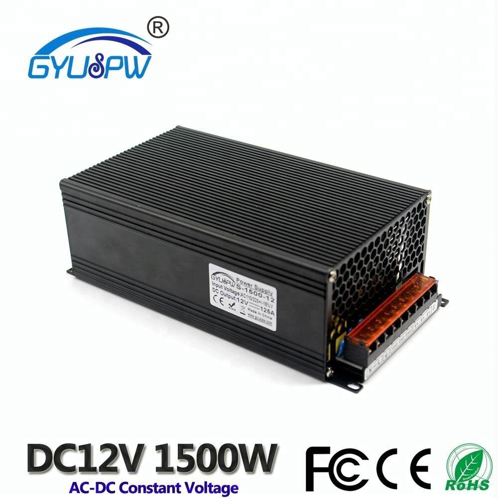 Single Output Power Supply DC12V Transformer 220V 110V AC to DC 12V 125A 1500W Switch  Source Adapter For LED Strip light