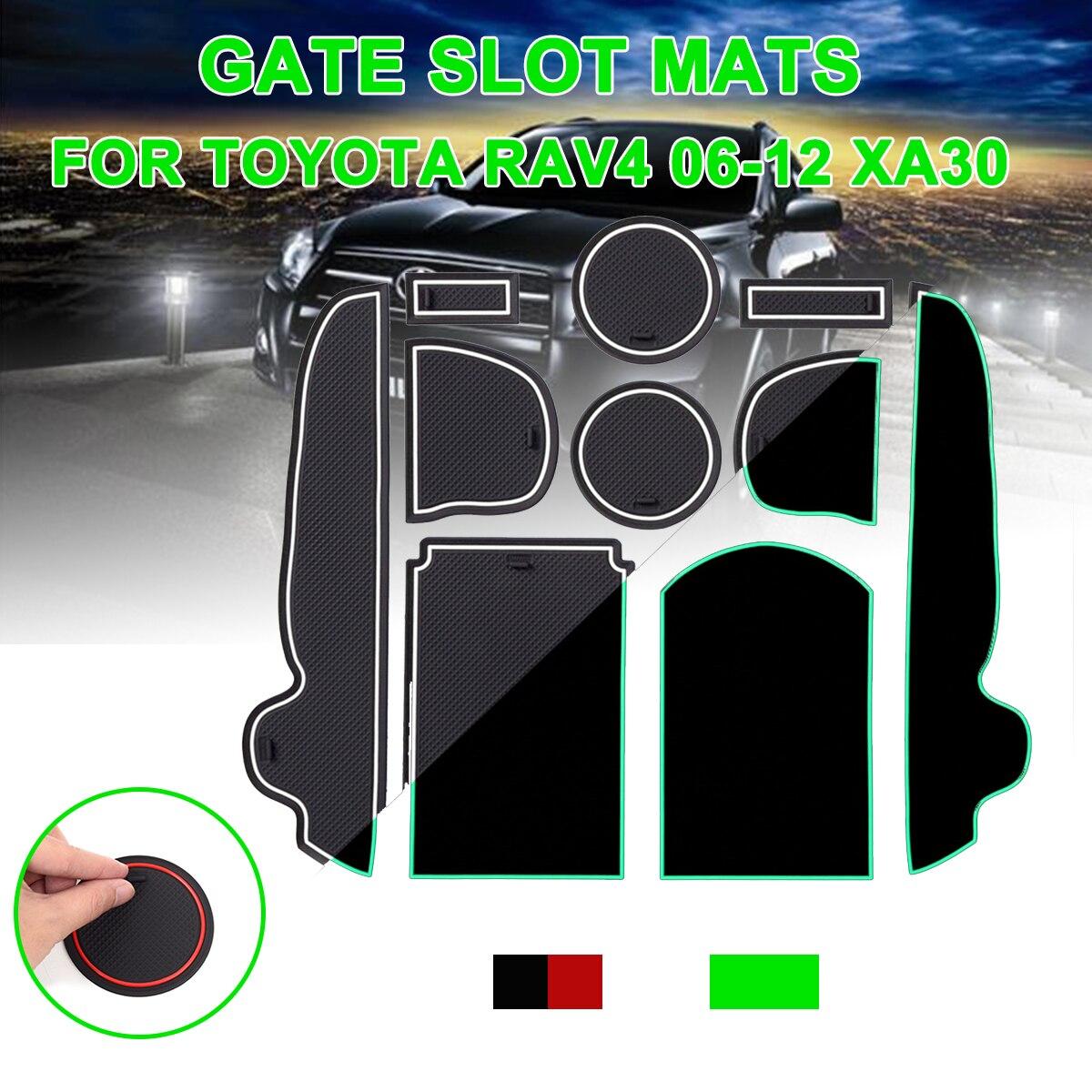 Для Toyota RAV4 2006-2012 xa30 противоскользящие ворота Слот коврик резиновая подставка аксессуары для RAV 4 2006 2007 2008 2009 2010 2011 2012