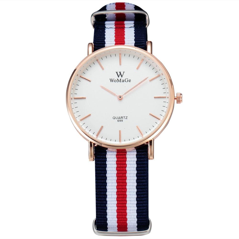 Relojes ultradelgados para hombre, relojes de moda para hombre, relojes Multicolor de nailon, reloj de cuarzo, reloj informal para hombre