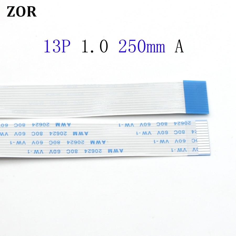 Cable flexible plano 1-3 uds 13pin FFC FPC 1,0mm paso 13 pines una longitud de avance 250mm Cable flexible de cinta AWM 20624 80C 60V VW-1