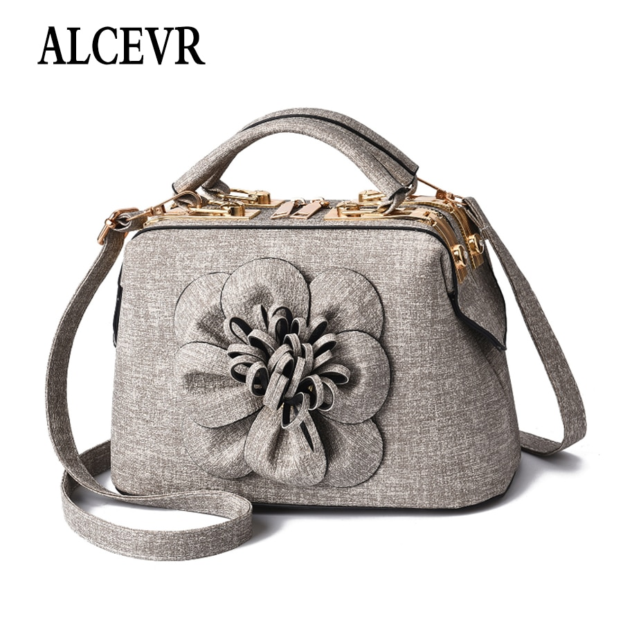 ALCEVR femmes mode sac en cuir avec motif de fleurs sac à main de luxe femmes sac design sacs à bandoulière messager Bolsos Bandolera