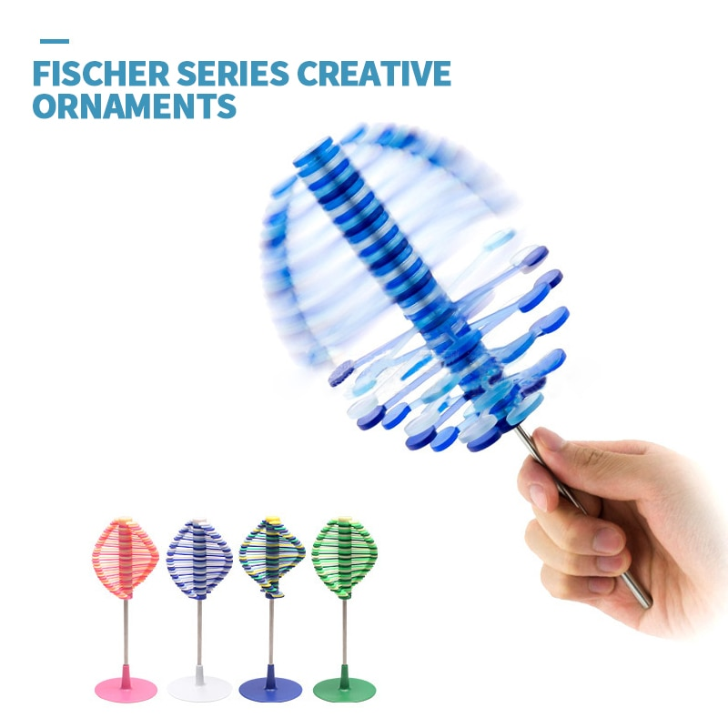 Rotating Lollipop Toy New Decompression Toy With Creative Ornaments of Fischer Series Unzip Toys Children's Educational Toy