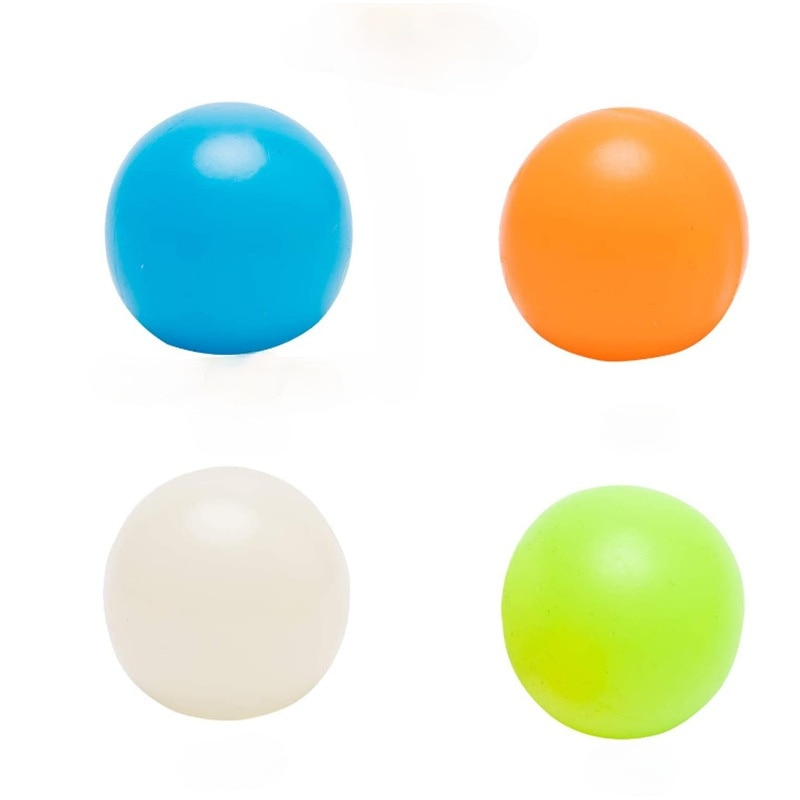 Pressure Ball Stick Wall Ball Luminous Stick Target Ball Pressure Toy Stress Relief  Squishy Stress Toys Stick Wall Suck The Top enlarge