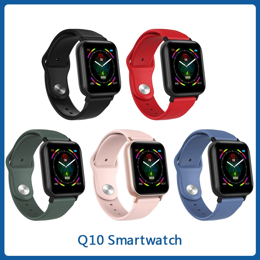 Reloj inteligente Multideportivo resistente al agua IP67, Monitor de ritmo cardíaco, reloj inteligente de Fitness, pulsera inteligente Q10