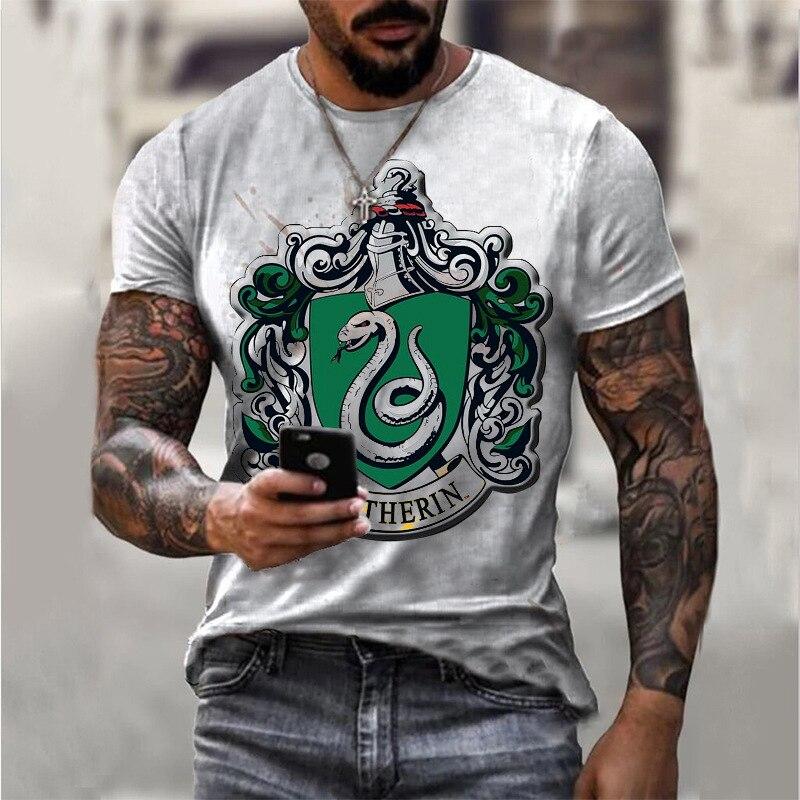 Крутая Летняя мужская футболка с 3D-принтом змеи и животным, уличная одежда, красивая трендовая мужская одежда с короткими рукавами