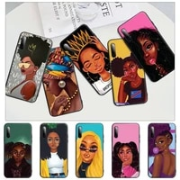 african beauty afro puffs black girl black matte phone cover case for redmi note 6 8 9 pro max 9s 8t 7 5a 5 4 4x