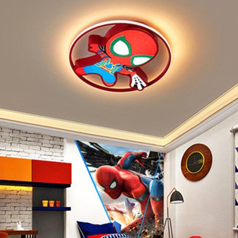 Детская спальня паук мультфильм скандинавские лампы детская комната лампа утапливаемое крепление свет Декор Lampara Techo