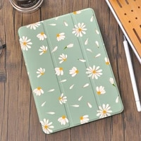 daisy sunflowers for 10 2 8th 2020 air 4 ipad case with pencil holder 7th 6th 12 9 pro 11 2018 mini 5 cover for 10 5 air 1 2 3