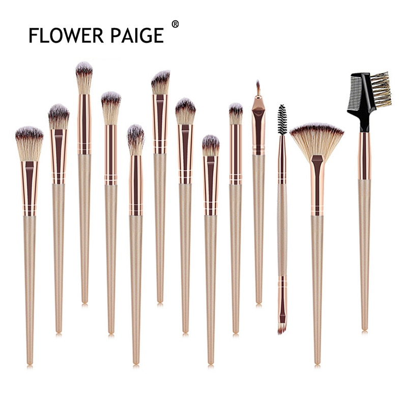FLOWER PAIGE 12/13Pcs New Product Makeup Brush Set Eye Brush Makeup Small Fan-shaped Brush Multifunc