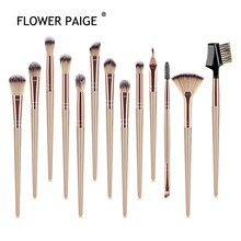 FLOWER PAIGE 12/13Pcs New Product Makeup Brush Set Eye Brush Makeup Small Fan-shaped Brush Multifunc