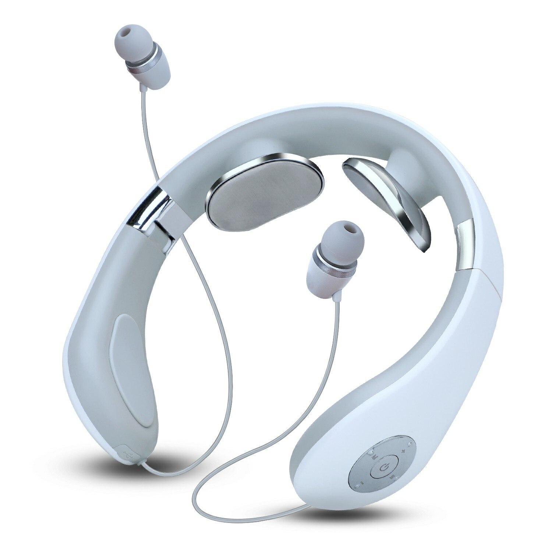 Neckband sem fio fone de ouvido bluetooth inteligente pescoço massagem fones dobrável confortável ergonômico neckband design fone de ouvido