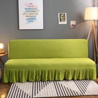 armless sofa bed cover sofa protector 1234 seater couch slipcovers elastic fabric couch cover living room solid color covers