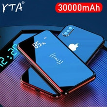 QI Wireless Charger 30000mAh Power Bank For iPhone 11 XS Max Samsung Power bank Dual USB Charger Wir
