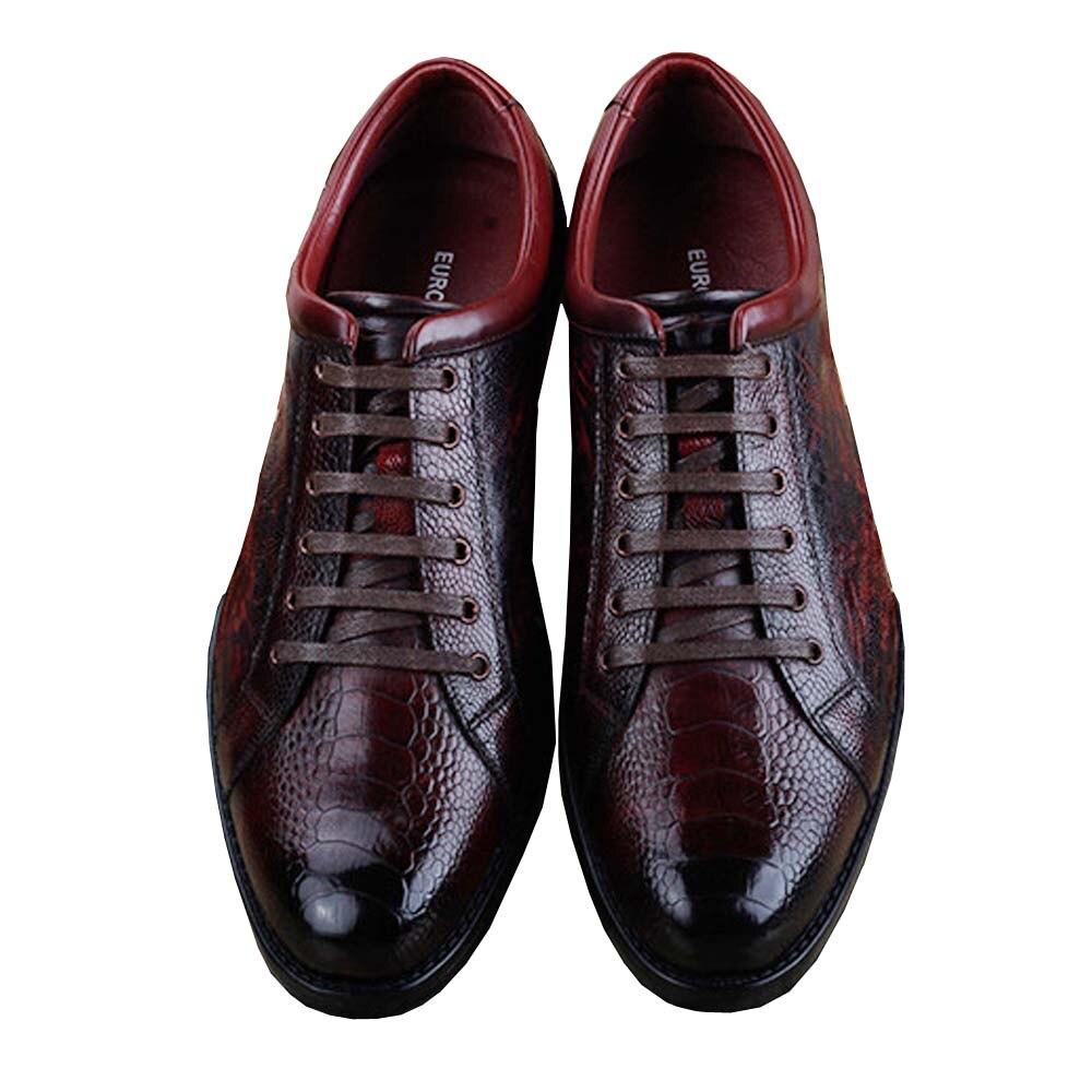 Ourui-أحذية جلد النعام للرجال ، أحذية للترفيه والأعمال ، مقاومة للاهتراء ، مجموعة جديدة
