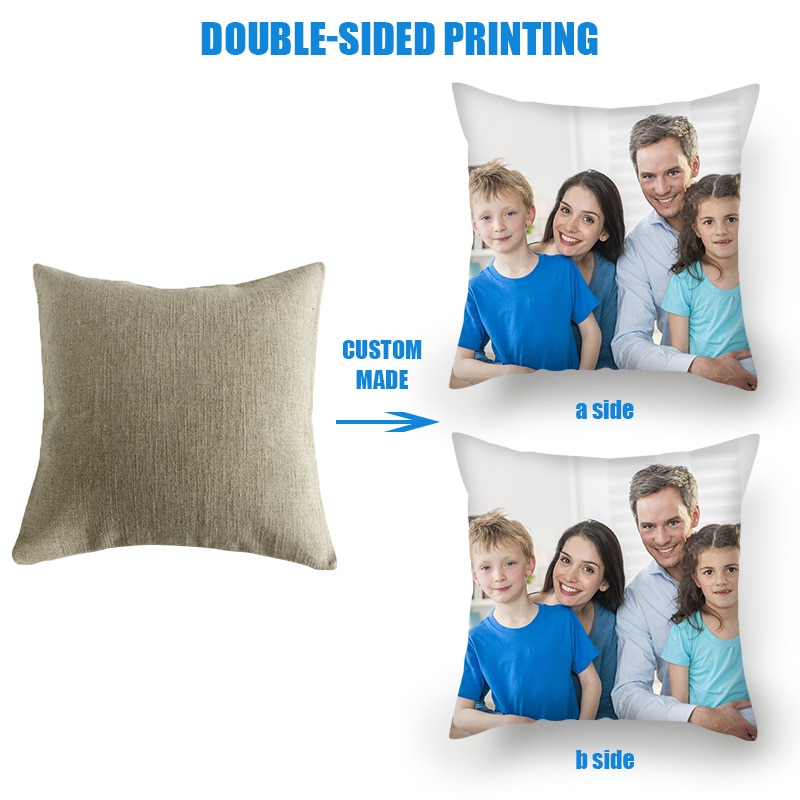 Fuwatacchi optional Customize Pillow Cover Life Photo Printed Cushion Cover Sofa Throw Pillowcase for Home Bed Decorative Pillow 2019 christmas throw pillow covers santa clause 0utdoor pillow decorations for home sofa bed pillowcase xmas party kids gift