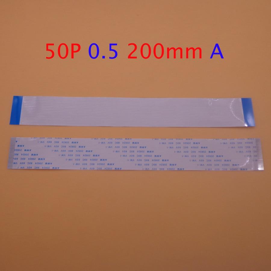 1-2 uds FFC FPC 50pin plana cable flexible 0,5mm 50 pin longitud de avance de 200mm de ancho 25,5mm cinta 50 p AWM 20624 80C 60V VW-1