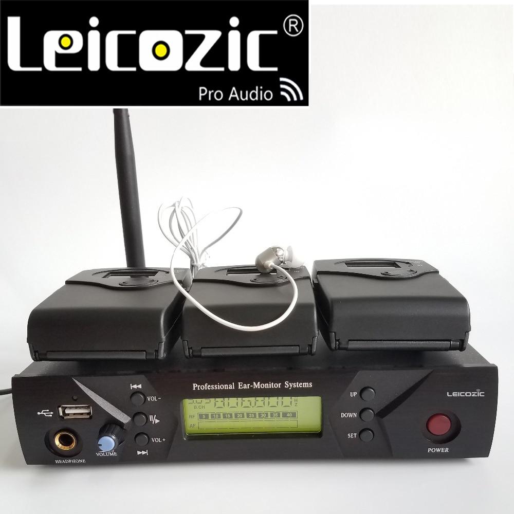 Leicozic BK-510 3 استقبال لاسلكية مراقبة المرحلة في الأذن الصوت شاشات سماعة مرحلة نظام مراقبة iem الصوت المهنية