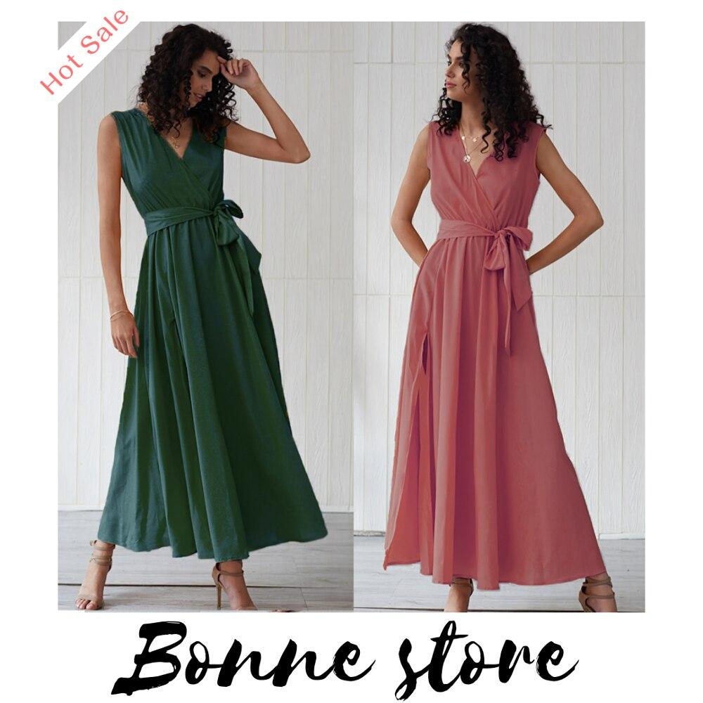 Mulheres vestido de sol longo boho chique hippie praia senhoras solto roupas verão maxi vestidos