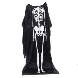 Fantasma esqueleto traje assustador halloween trajes para crianças robe horror vampiro zumbi crânio crianças robe diabo vestido de halloween
