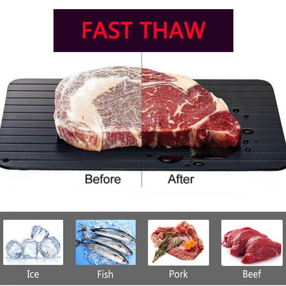 Schnelle Abtauen Tablett Tauwetter Lebensmittel Fleisch Obst Schnell Abtauen Platte Bord Abtauung Küche Gadget Werkzeug Küche Werkzeuge outdoor
