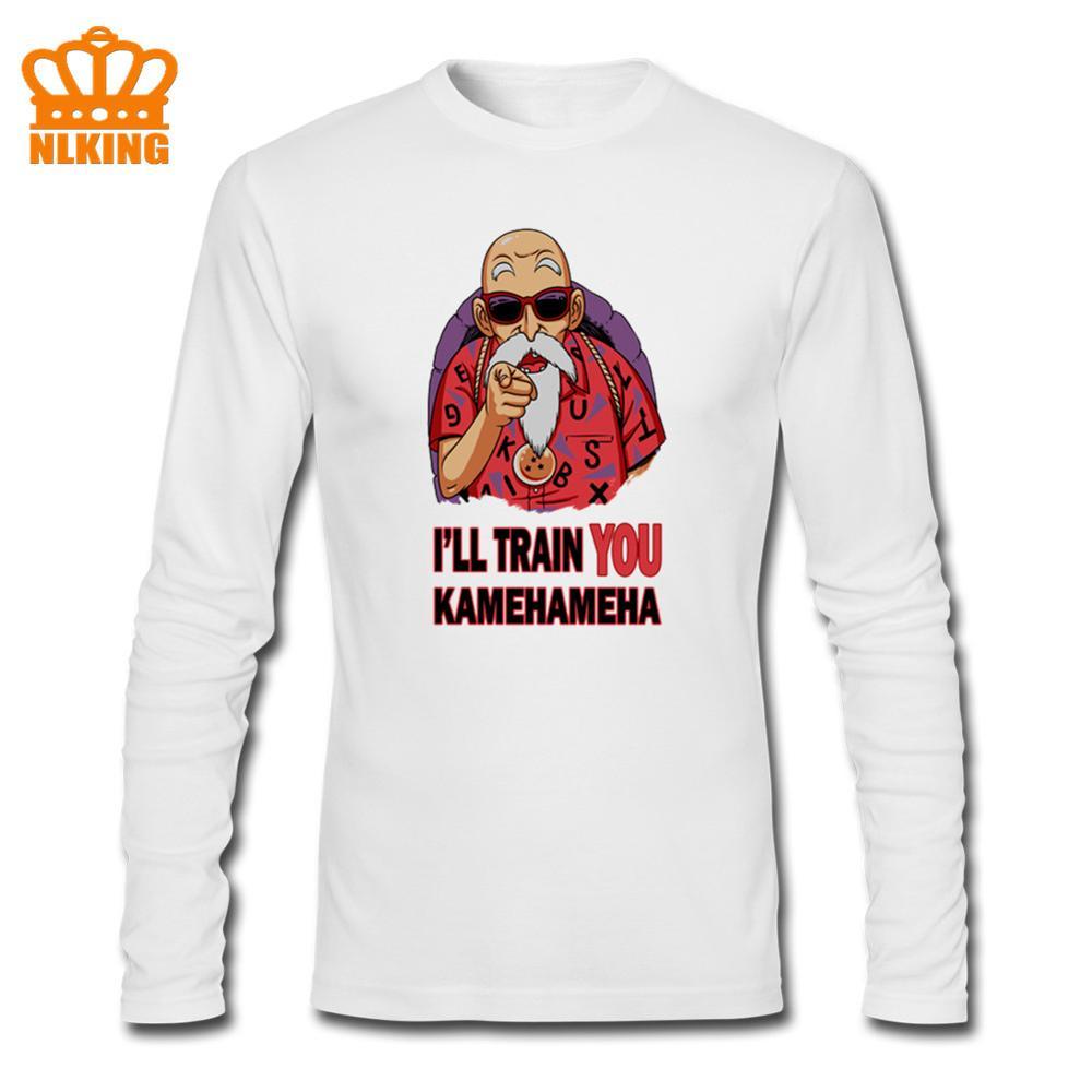 2020 Camiseta de manga larga para hombre, camiseta divertida de moda, 5 colores, gran oferta, camiseta de Dragon ball Turtle man Kame Sennin Roshi want you