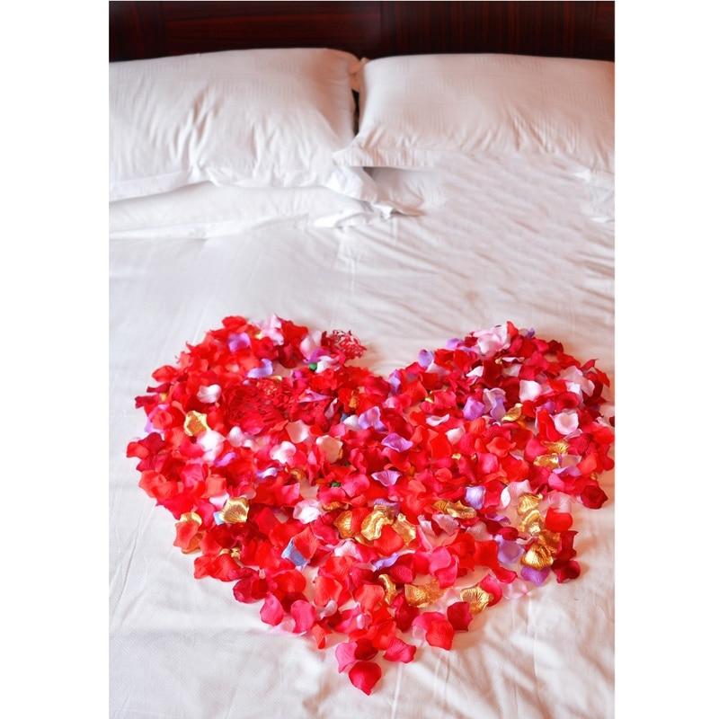 2000 vnt spalvingų dirbtinių rožių žiedlapių vestuvių petalas - Vestuvių priedai - Nuotrauka 4