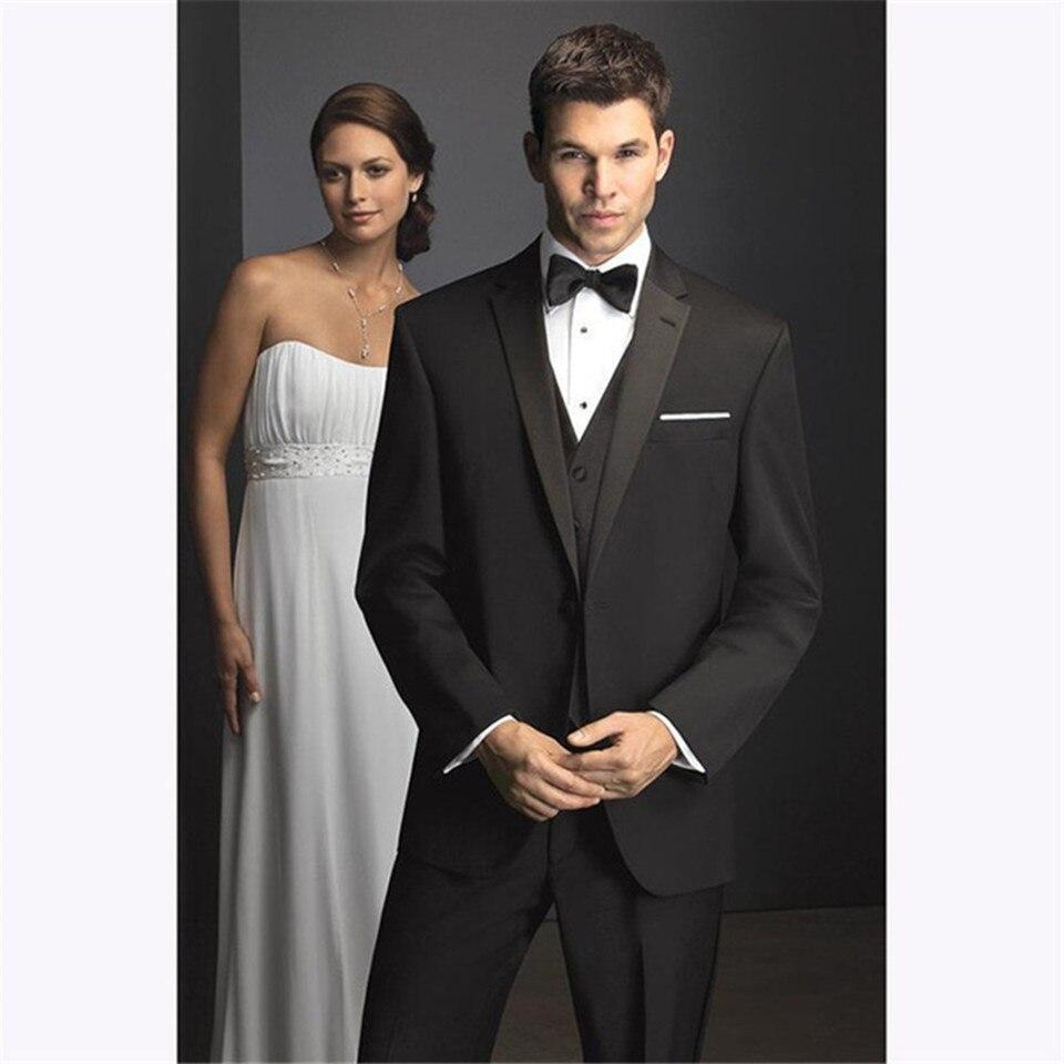 Nuevo traje clásico para hombre Smolking Noivo Terno Slim Fit Easculino trajes de noche para hombre un botón negro novio esmoquin novio