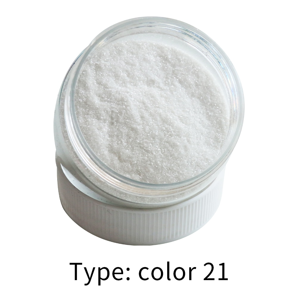Purpurina, polvos de Color 21 para pintura, brillo, decoración navideña, pigmento para uñas, pintura en polvo automotriz, pintura acrílica de 50g
