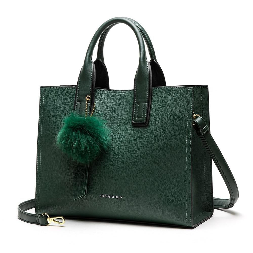 Miyaco Brand Women Bags Female Purse  Handbags Classic Leather For Ladies Top Handle Fashion Bag New 2021