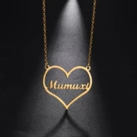 sipuris customized heart shaped name necklace stainless steel love necklace personalized fashion jewelry couple women gifts 2020