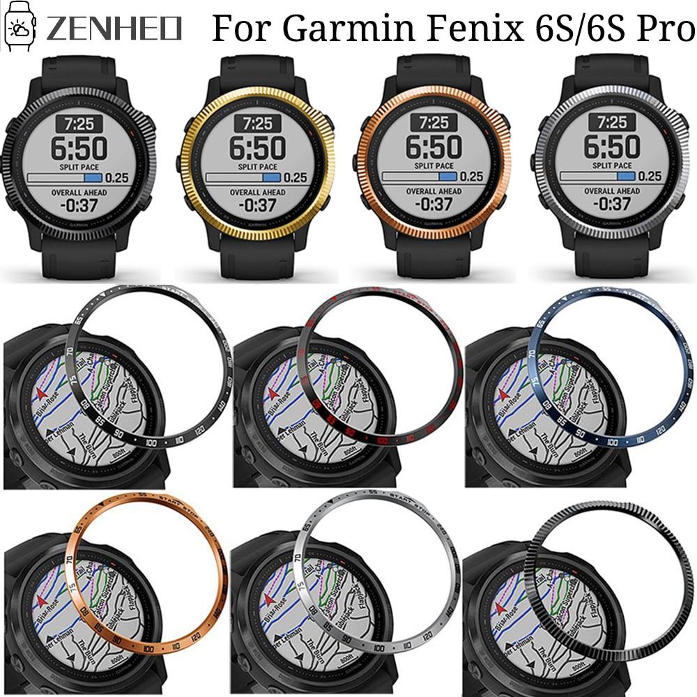 For Garmin Fenix 6S/6S Pro Bezel Ring Case Cover for Garmin Fenix 6S Sapphire Smart Watch Bezel Styling Ring Protective Shell