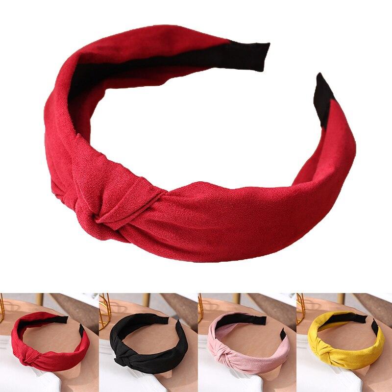Široki trakovi za lase za ženske, pokrivalo, enobarvni trak za - Oblačilni dodatki - Fotografija 6