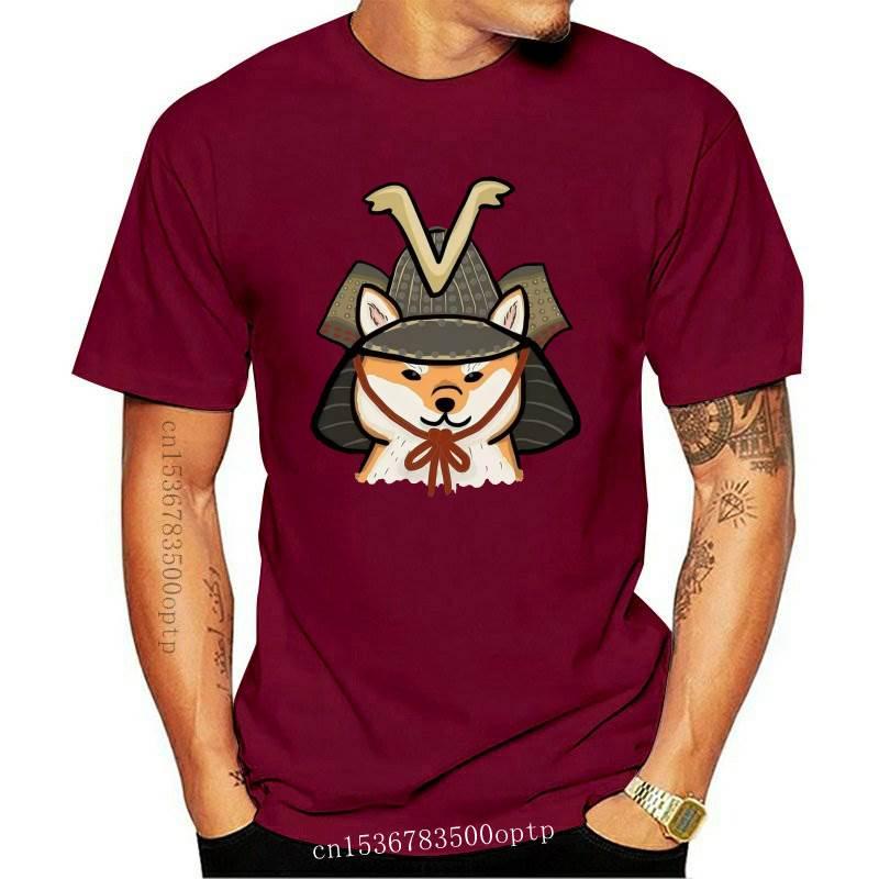 New Samurai Shiba Inu T-Shirt Streetwear Fashion custom round neck