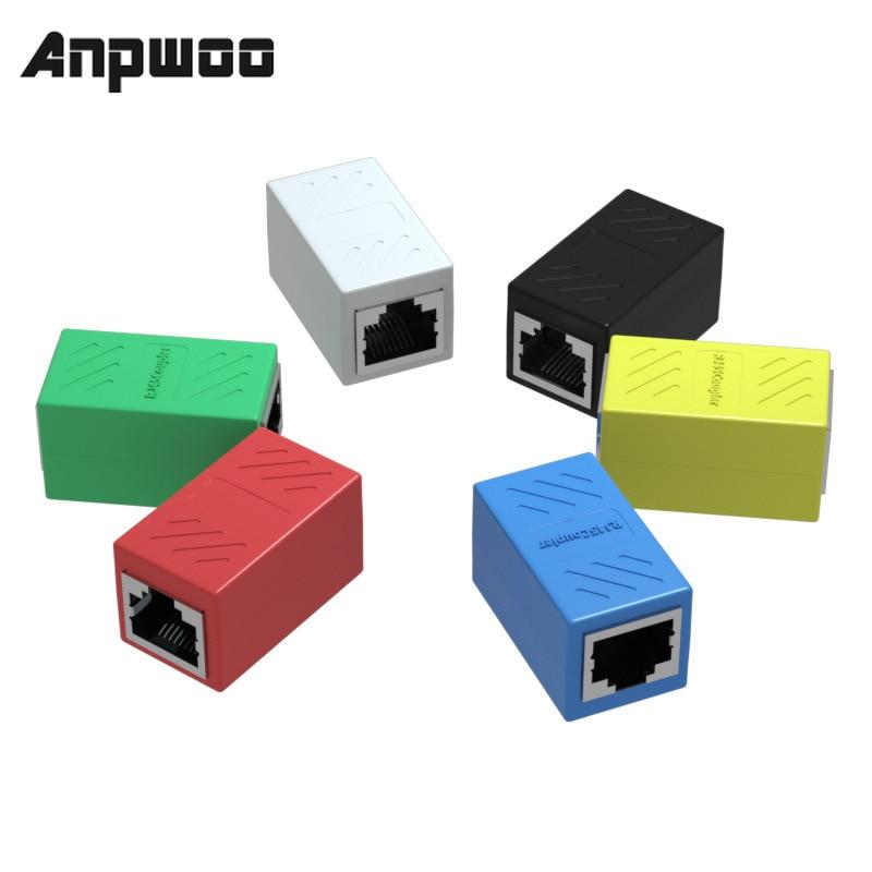ANPWOO RJ45 женский порт сетевой Ethernet разветвитель Разъем LAN соединительная головка RJ45 адаптер Муфта CAT5 CAT6 Sockt
