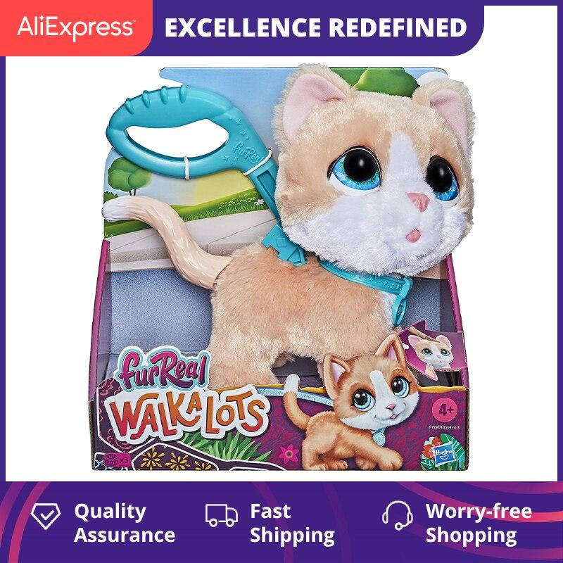 FurReal Friends FRR Walkalots Big Wags Interactive Kitty Toy Cat 2.0 Funny Pet Kawaii Stuffed Animals Sound Walk Plush Toy Girl