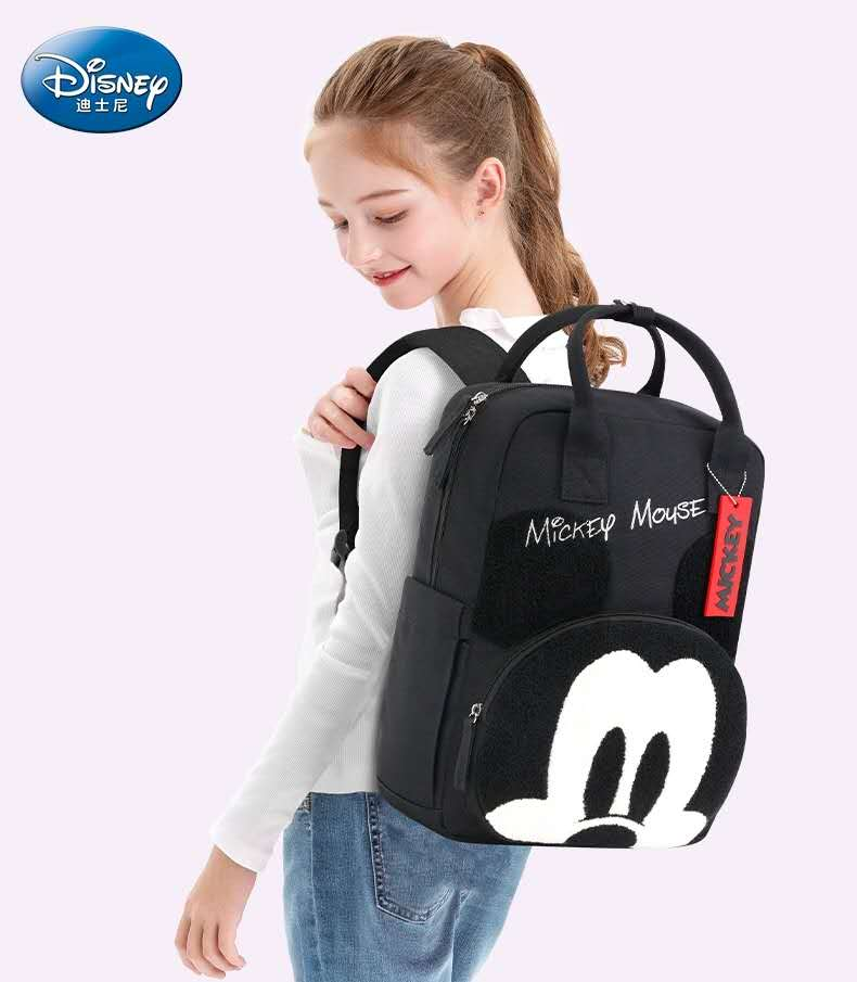 Disney Mickey Mouse school bags for girls orthopedic breathable backpack large capacity primary student shoulder bags girl gifts