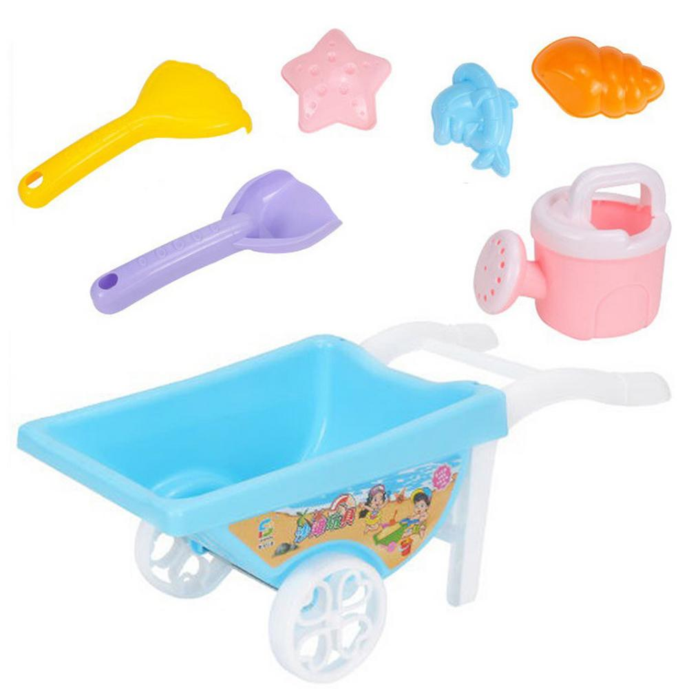 kids sand 7PCS Beach Toys Portable Reusable Outdoor Sand Tool Kit for Kids Summer Sand Play Sand Dredging Tools Sand Water Game