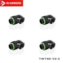 4PCS barrow wasser-gekühlt G1 / 4 stecker schwarz/hell/weiß/gold 90 grad swivel joint swivel ellenbogen TWT90-v 2,5