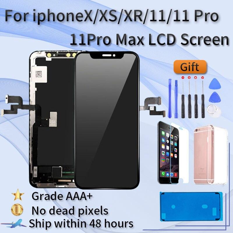 عرض آيفون X XR XS 11 12 11 برو ماكس TFT شاشة الجمعية آيفون X XR XS ماكس 11pro شاشة LCD ، ثلاثية الأبعاد اللمس
