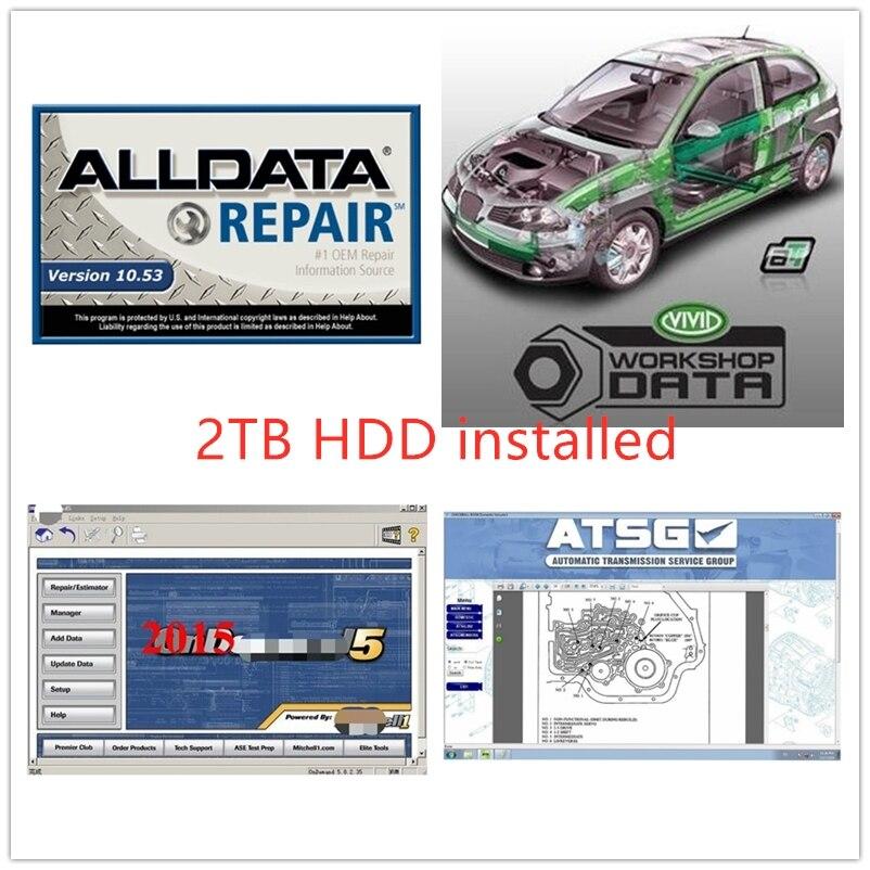 2020 oprogramowanie alldata 10.53v mit//chell od 5 auto data naprawy oprogramowania usb 3.0 w 2tb warsztat darmowa wysyłka