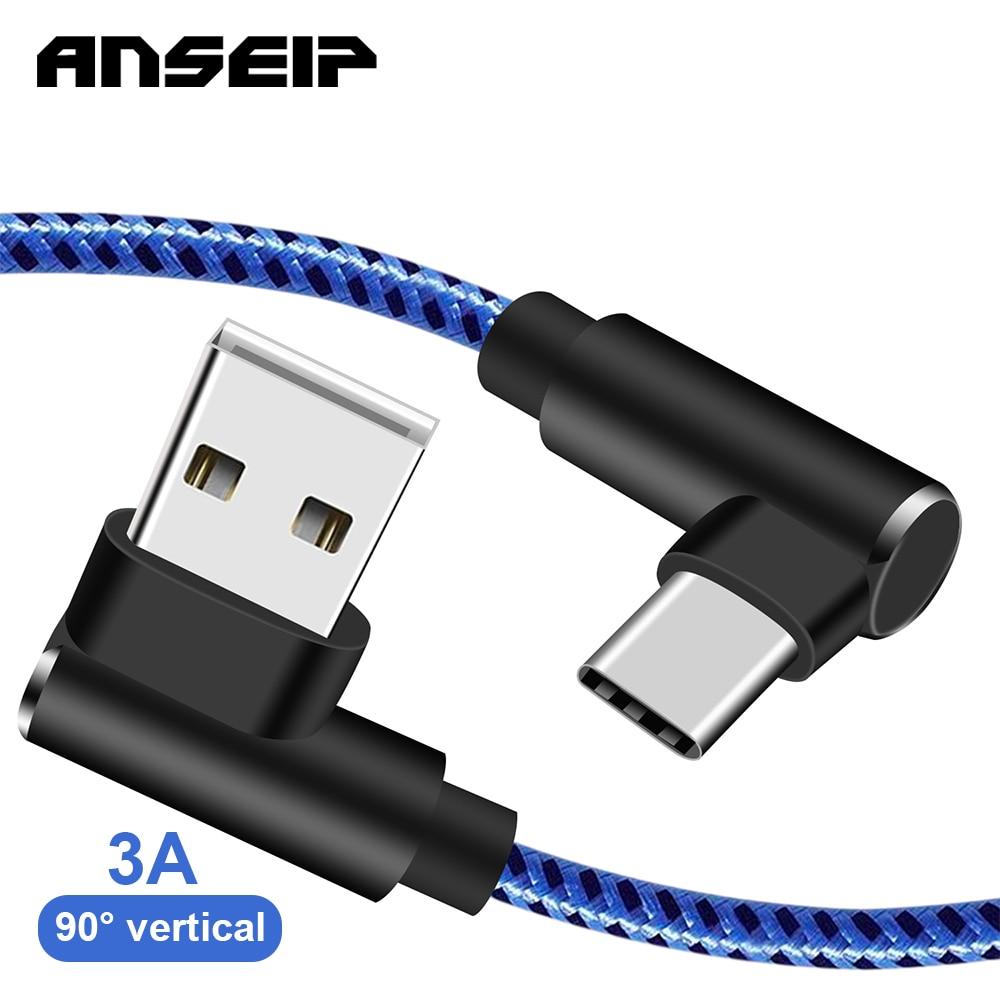 ANSEIP-Cable USB tipo c de carga rápida, Cable Micro IOS de 1M/2M/3M...