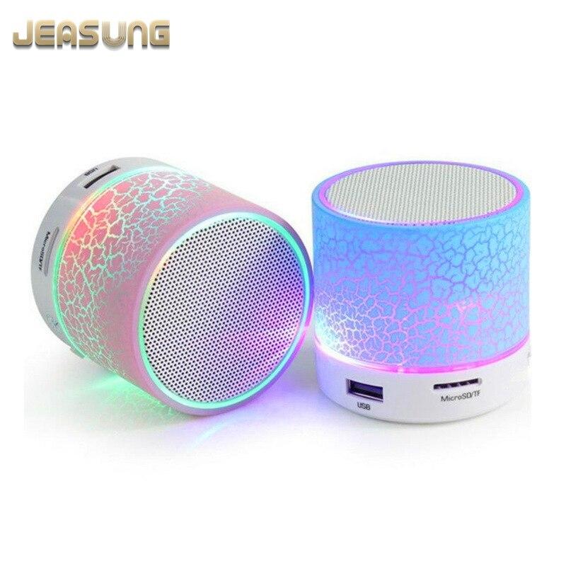 Jeasung A9-altavoz, inalámbrico por Bluetooth, Mini altavoz LED TF con USB, Subwoofer bluetooth, reproductor de audio estéreo mp3